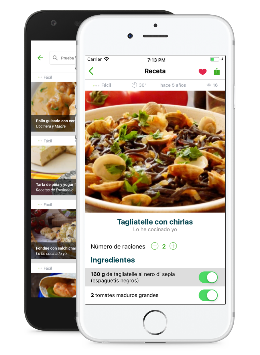 Recetix para iPhone y Android